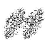 FEESHOW Elegant Rhinestone Crystal Metal Shoe Clips Wedding Party Pack Type C One Size