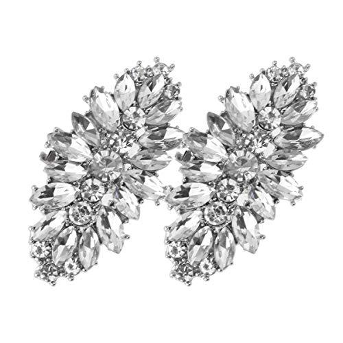 FEESHOW Elegant Rhinestone Crystal Metal Shoe Clips Wedding Party Pack Type C One Size by FEESHOW (Image #1)
