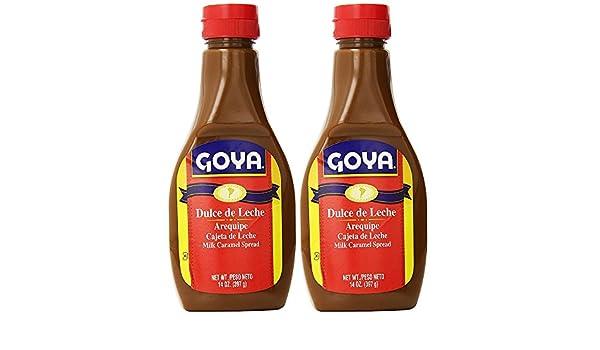 Amazon.com : Goya Dulce de Leche, Milk Caramel Spread, 14 Oz (2 pack) Arequipe - Cajeta de Leche : Grocery & Gourmet Food