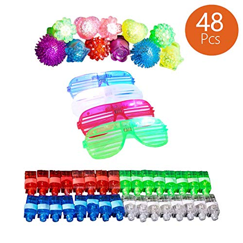 SVET BRADOL Light Up Rings - LED Flash Toy Bumpy Party Rings Lights Kids Teens Adults (1)