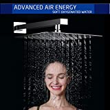 12-inch Rain Showerhead - waterfall Style Shower heads for Bathroom, Solid Square Ultra Thin Rainfall Shower Head, Brushed Stainless Steel