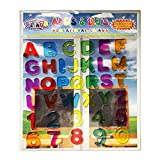 ABC & 123 Gel Clings - Full Alphabet Letters and Numbers Window Clings for Kids - 36 Removable and Reusable Educational Gel Decals for Home, Planes, Classrooms and More