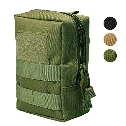 Hoanan Molle Pouches, Tactical Admin Pouch Compact EDC Utility Gadget Gear Pouch Military Carry Accessory Belt Hanging Waist (Molle Large Utility Pouch)