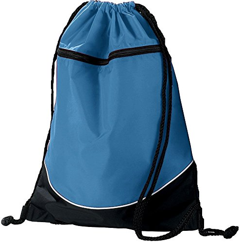 Augusta Sportswear TRI-COLOR DRAWSTRING BACKPACK OS Columbia Blue/Black/White
