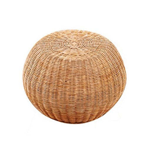 (ch-AIR Stool Round Rattan Drum Chair Shoe Bench Wooden Shoes Stool Adult Seat Tea Stool Small Sofa Foot Makeup Stool Without Backrest 30 X 30 X 33 cm 0609A (Size : 454533))