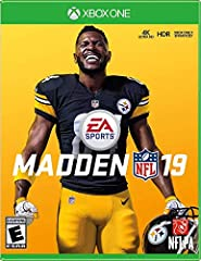 PRE-ORDER (STANDARD EDITION) Pre-order Madden NFL 19 today for: Your Choice of 1 Elite Player from your favorite NFL Team 5 Gold Team Fantasy Packs Achieve your gridiron greatness in Madden NFL 19 with more precision and control to win in all...