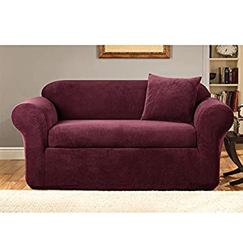 Amazon Com Sure Fit Stretch Metro 2 Piece Loveseat Slipcover