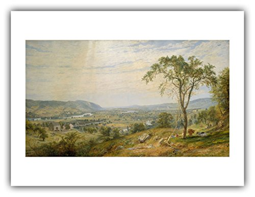 Renfield's Fine Art - Jasper Francis Cropsey : ''The Valley of Wyoming'' (1865) — Giclee Fine Art (Hudson Valley Jasper)