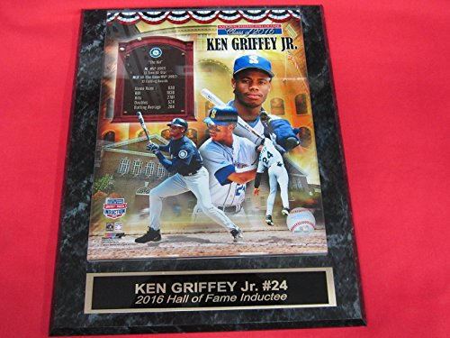 Alex Rodriguez 8x10 Photograph - Mariners Ken Griffey Jr Engraved Collector Plaque w/8x10 Hall of Fame Photo