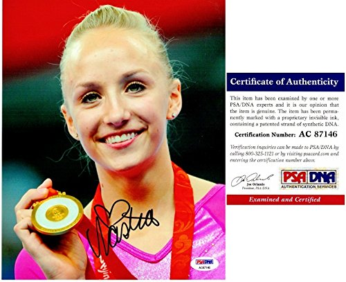 Nastia Liukin Signed - Autographed 2008 Beijing Olympics Gymnastics 8x10 inch Photo - Olympic Gold Medal Gymnast - PSA/DNA Certificate of Authenticity (COA)