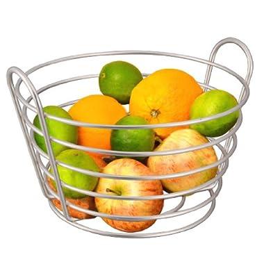 Home Basics Satin Nickel Simplicity Collection Fruit Basket