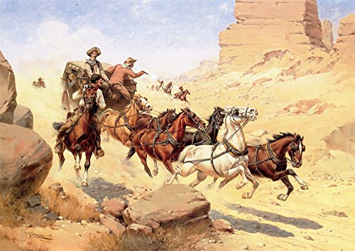 (Herman W. Hansen Attack on The Stagecoach Private Collection 30
