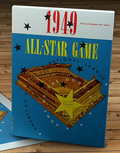 1949 Vintage Brooklyn Dodgers - Ebbets Field All-Star Game Program - Canvas Gallery Wrap - 12 x 16