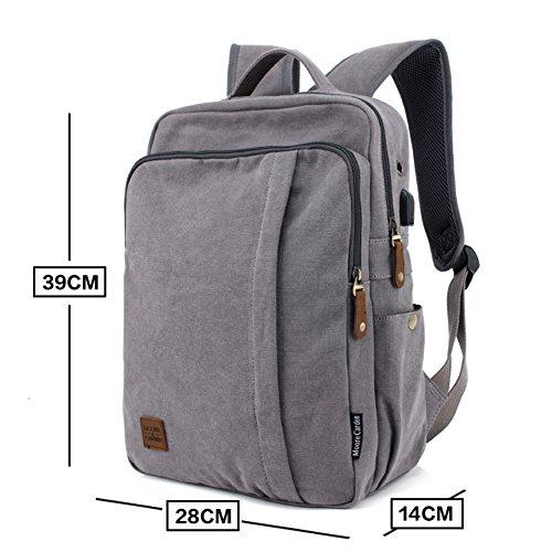 mochila de moda/Bolso de lona ocasional de los hombres/Bolsa de viaje/mochila/Los estudiantes de la secundaria masculino mochilas-A A