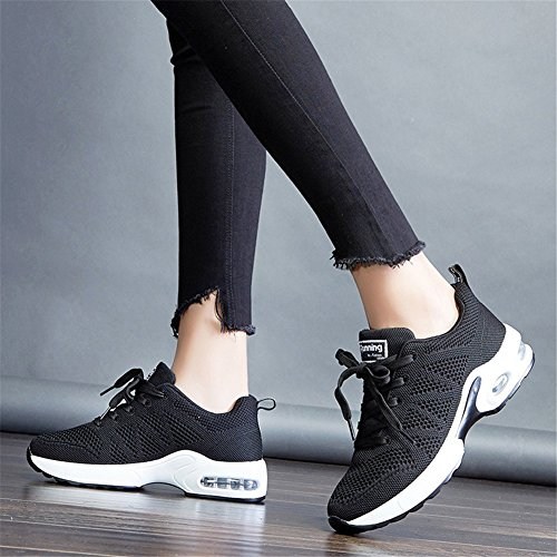 1 Noir Baskets Chaussure Homme Running 34 Sneakers Femme 43 De Gym Sports Air Fitness Sport Eu Course qaqZS1
