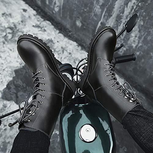 E Men Stivali Stivali Inverno Militare Stivali KUKI Martin In Black Da Da Deserto Casual Uomo S Pelle Moto Stivali Moda Utensili Stivali Stivali Autunno Scarpe ' zwSw0