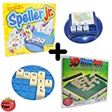 Word Games Bundle 2 Educational Board Games Package for All Ages | SPELLER