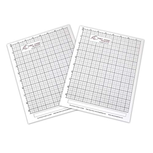 (2 x Grid Type Lettersize 'Freehand Designer' Sheets. Draw Perfect Straight Lines Templates. Grid Type Sheets for Scale Drawings )