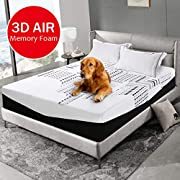 #LightningDeal EMONIA 12 inch Memory Foam Mattress with Washable Bed Mattress Cover