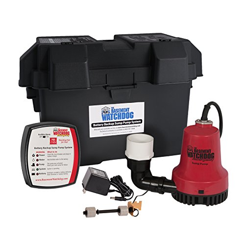 Sump Basement Pump Backup - Basement Watchdog BWE 1000 Gallons Per Hour Basement Watchdog Emergency Back-Up Sump Pump