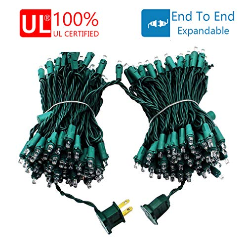 Decute Upgraded 66 Feet 200 LEDs Christmas String Lights with End-to-End Plug, 100% UL Certified Fairy Lights for Indoor Outdoor Christmas Tree Party Wedding Bedroom Decoration, Warm White