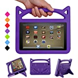 F ir e 7 Tablet Case for Kids - Bromee Light Weight EVA Shock Proof Handle Friendly Folodable Stand Kids Case for F i r e 7 Inch Display Tablet(Compatible with 7th Generation & 5th Generation) -Purple