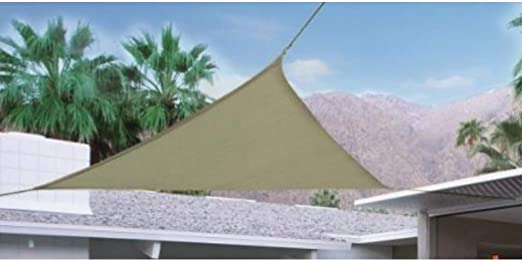 TOLDO JARDIN TRIANGULAR BEIGE 3.6X3.6 MTS: Amazon.es: Jardín