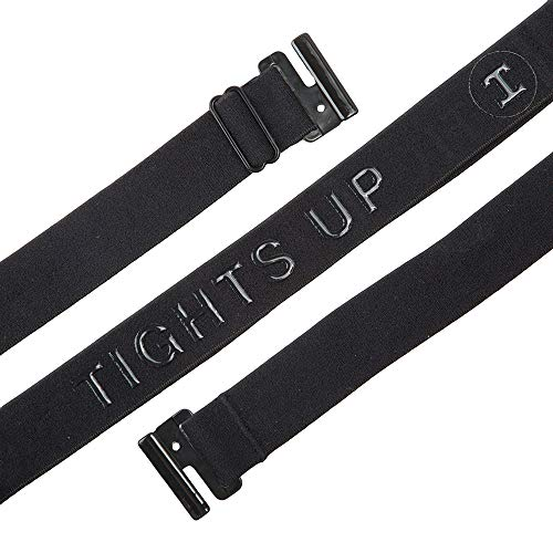 Adjustable Stretch Belt: No Show Flat Buckle, Non-Slip Backing (Belt-Loops not required)...
