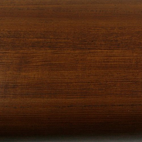 ROSEROSA Peel & Stick Backsplash Horizontal Teak & Stripe Wood Textured Vinyl Wall Paper Self-adhesive Wallpaper Shelf Liner Table and Door Reform (PG4345-5 : 2.00 Feet X 6.56 Feet)