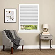Achim Home Furnishings Cordless 1-2-3 Vinyl Room Darkening Pleated Window Shade, 48  x 75 , White