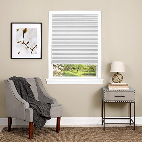 (Achim Home Furnishings Cordless 1 2 3 shade Vinyl Room Darkening Pleated Window Shade, 36