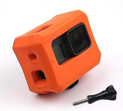 Float Funda para GoPro 7/6/5, Floaty Marco de Carcasa para GoPro Hero 7 Hero 6 Hero 5 Negro, Cámara Anti-Fregadero Flotador Accesorio Flotante para Deportes acuáticos: Amazon.es: Electrónica