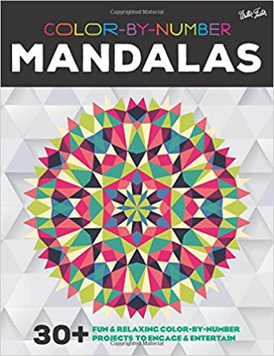 Amazon Color By Number Mandalas 30 Fun Relaxing Color By