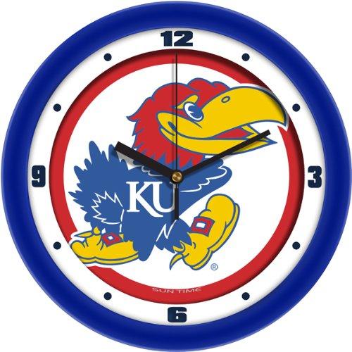 SunTime NCAA Kansas Jayhawk Traditional Wall Clock