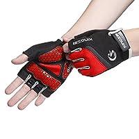 Lonfly Cycling Gloves for Men/Women Half Finger Mountain Biking Gloves with Anti-Slip Shock-Absorbing Sport Gloves Plus Size