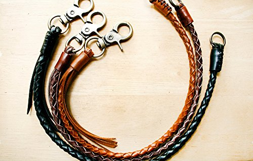 Leather lanyard, Braided Chain , Braided Leather Keychain, Leather Weave , Braid Lanyard , Leather Chain