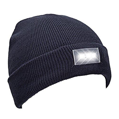 light blue knit beanie - 8