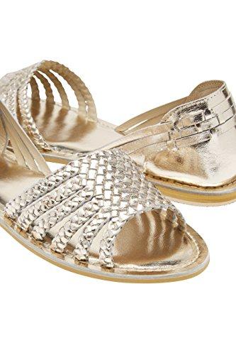 next Mujer Sandalias Semicerradas Cuero Trenzado Corte Regular Zapatillas Calzado Metálico