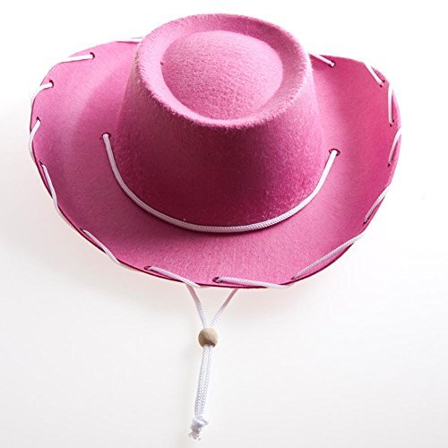 Children's Pink Felt Cowboy Hat by Century Novelty]()