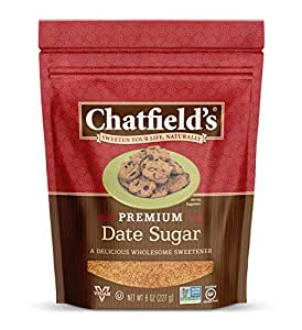 Chatfields Granulated Date Sugar, 100% Date Sweetener, 8 Oz. Pouch, 1 Pack