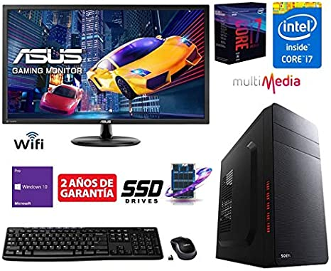 Megamania Ordenador de Sobremesa Intel Quad Core i7 up to 3,8Ghz x ...