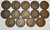 14 Different Indian Head Cents Good or Better Condition