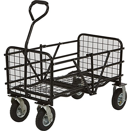 Strongway-Folding-Utility-Cart-49inL-x-25-12inW-330-Lb-Capacity