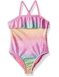 Angel Beach - Bañador de una Pieza para niña con diseño de Princesa de Sirena