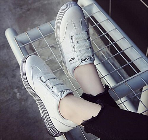 Students' White Women's Strap DADAWEN Sneakers Platform Magic 5BT1zUwq