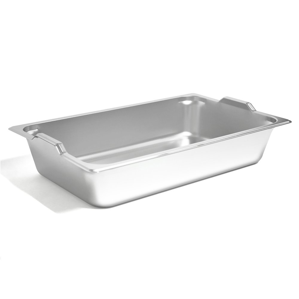 Full size steam table pan GN hotel pan with handles electro polishing (4'' 6 pcs)