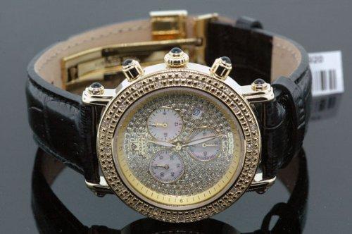 Aqua Master Ladies' Small Diamond Watch Yellow Gold by Aqua Master