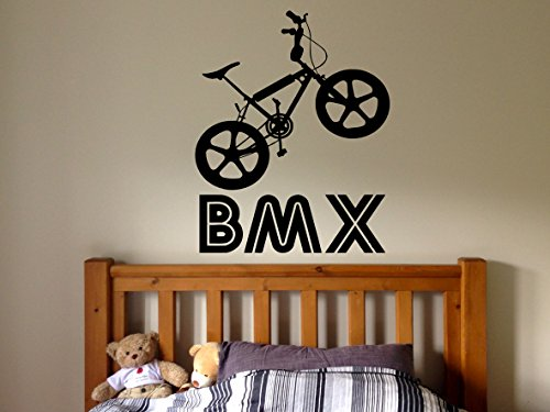 Wall Decal Room Sticker bmx bike sport bicycle jump ridin...