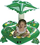 Poolmaster 81555 Learn-to-Swim Frog Baby Float Rider with Leaf Canopy