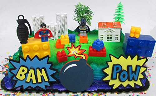 Marvelous Lego Batman Super Hero Deluxe Birthday Party Cake Topper Set Personalised Birthday Cards Paralily Jamesorg